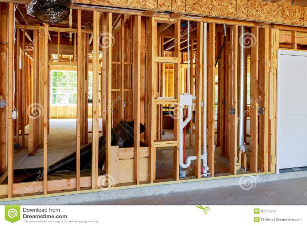 medium resolution of the frame building or a house with basic electrical wiring