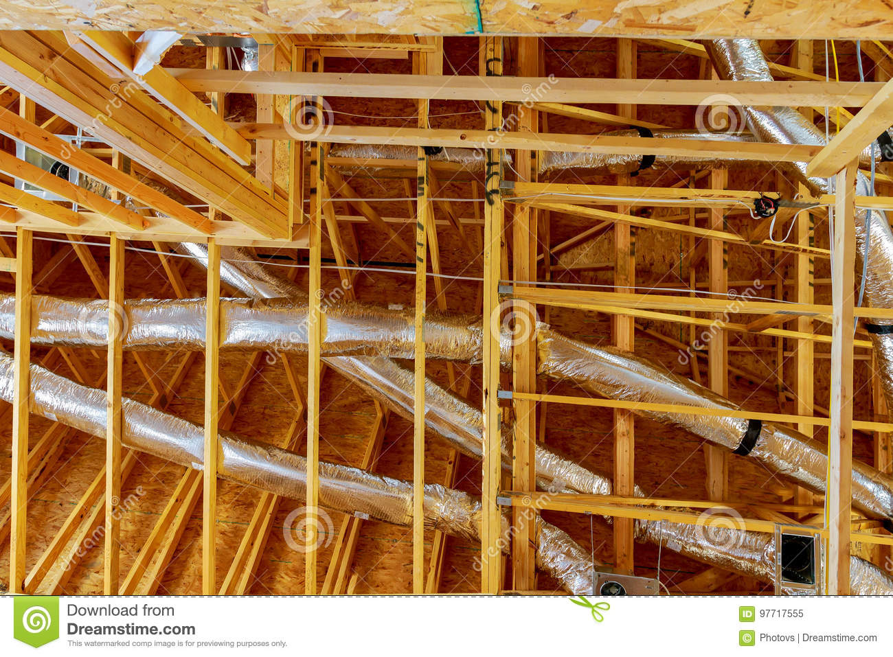 hight resolution of the frame building or a house with basic electrical wiring
