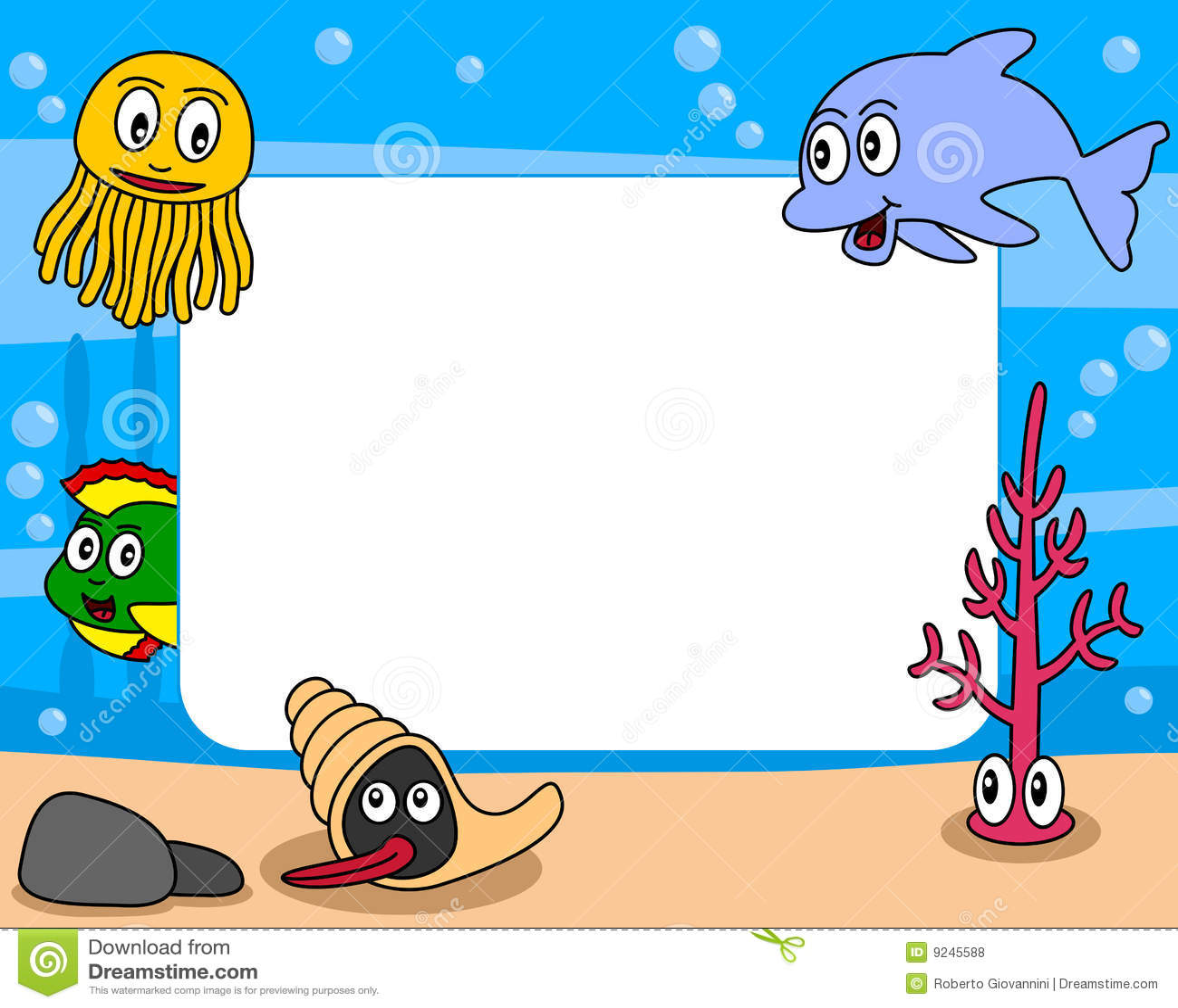 Frame Da Foto Da Vida De Mar 1 Ilustracao Do Vetor