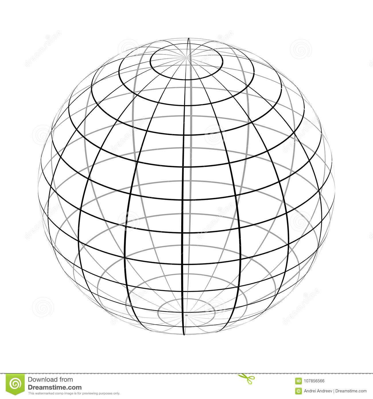Wire Frame Sphere Network Concept Stock Photography