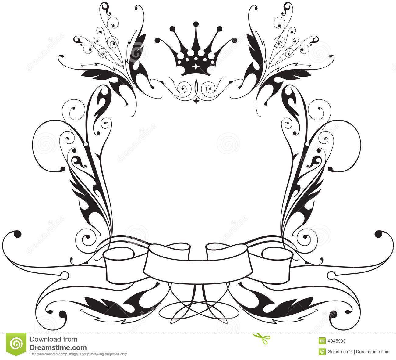 Frame Flowers Amp Butterfly Stock Vector Illustration Of