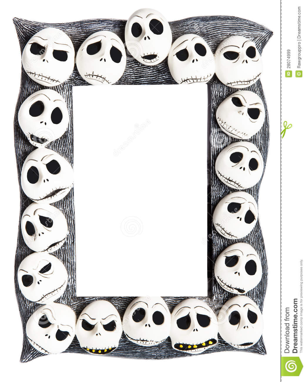Frame With Scary Halloween Masks Stock Image