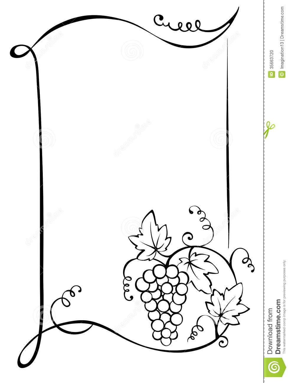 Frame with vine stock vector. Illustration of label, wine