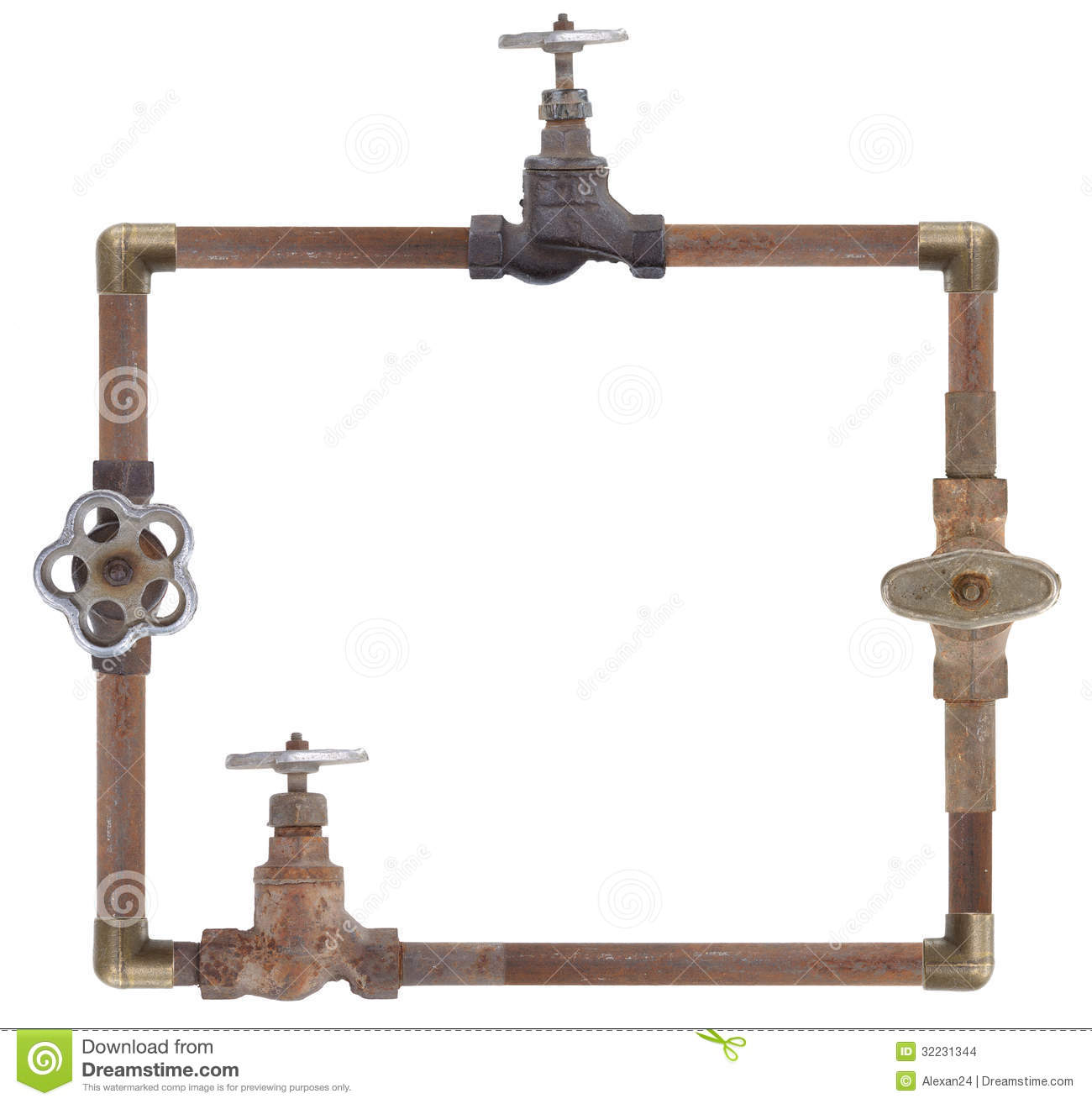 Frame from water pipes stock photo. Image of plumbing