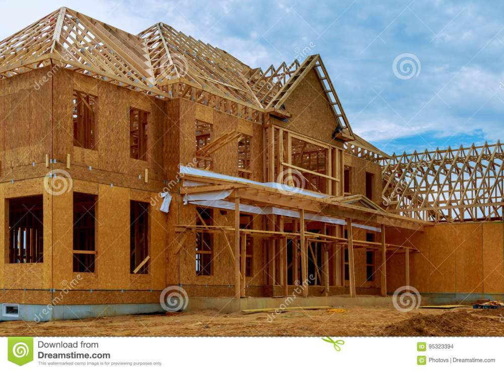 medium resolution of framed building or residential home with basic electrical wiring and hvac complete