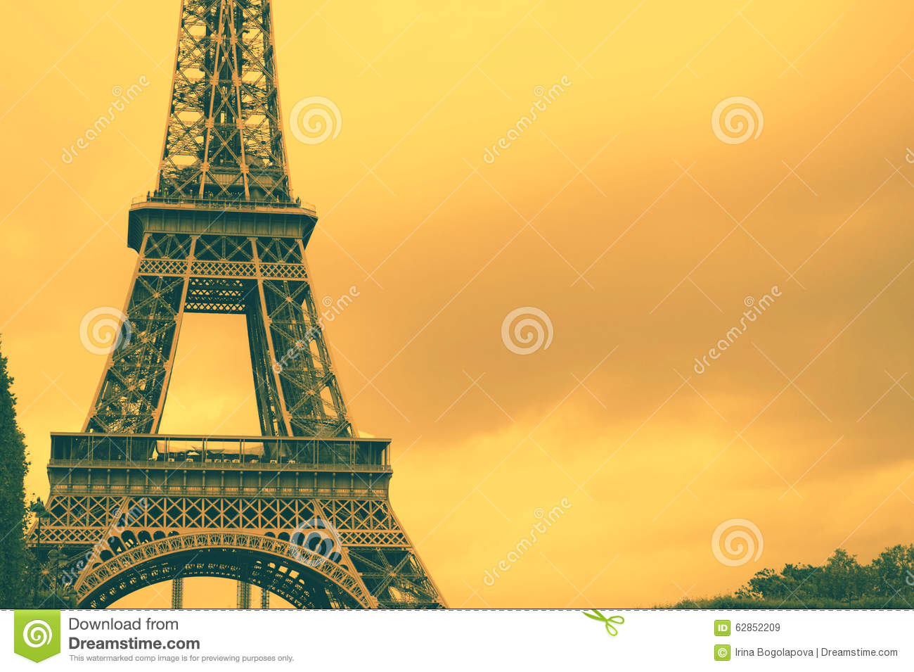 vintage electric chair replacement canvas for deck chairs france eiffel tower background stock photo - image: 62852209