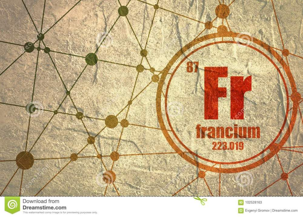 medium resolution of francium chemical element stock illustration illustration of dot diagram nickel francium chemical element