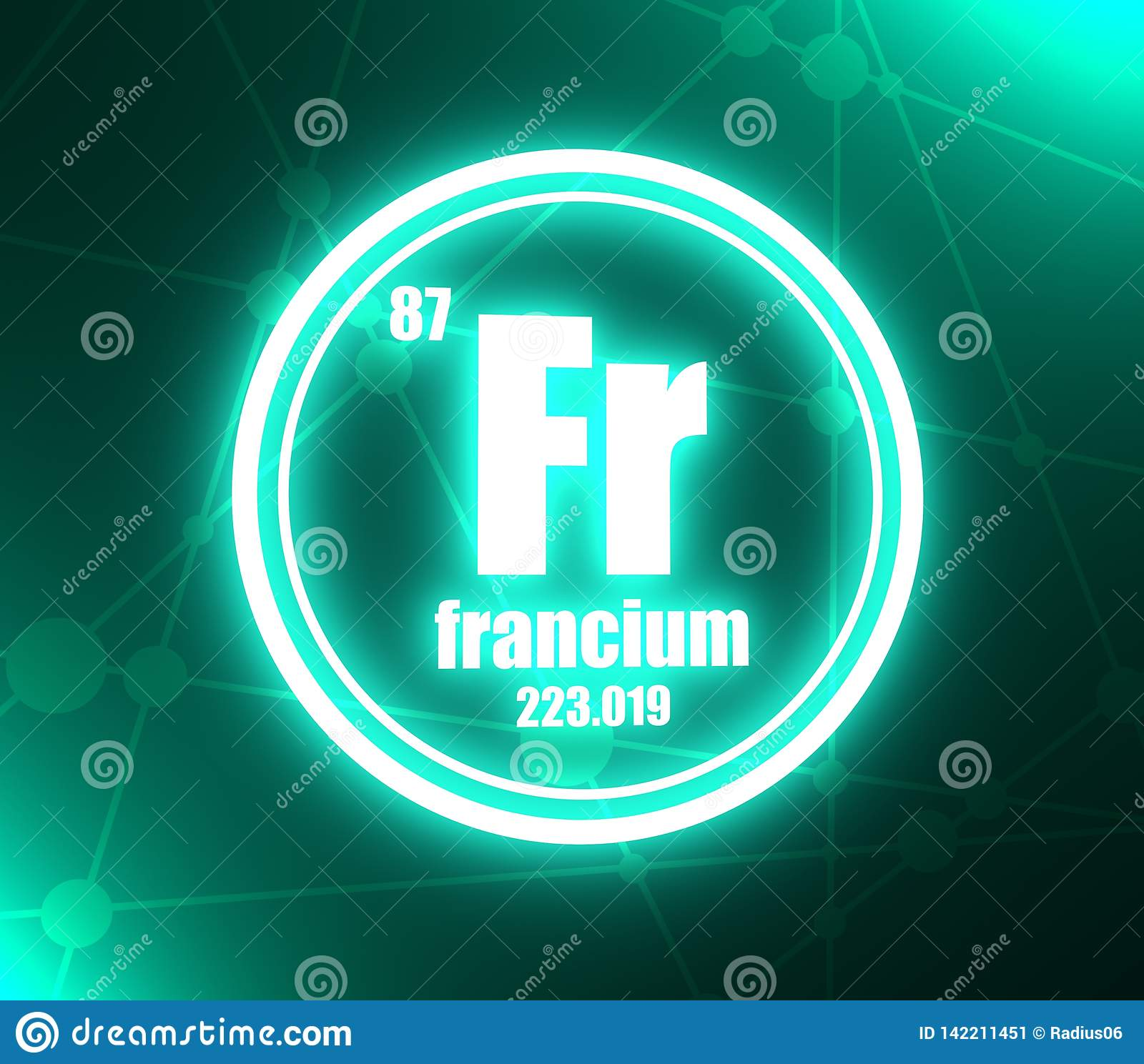 hight resolution of francium chemical element stock illustration illustration of francium shell diagram francium chemical element