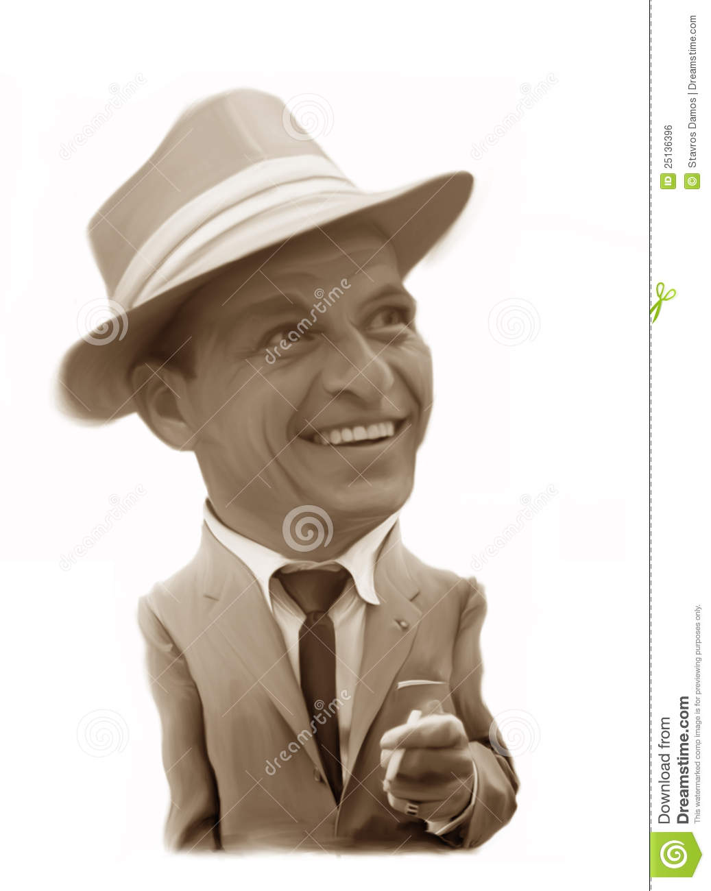 Frank Sinatra Caricature Editorial Photo  Image 25136396