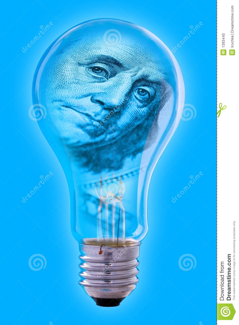 Benjamin Franklin Light Bulb