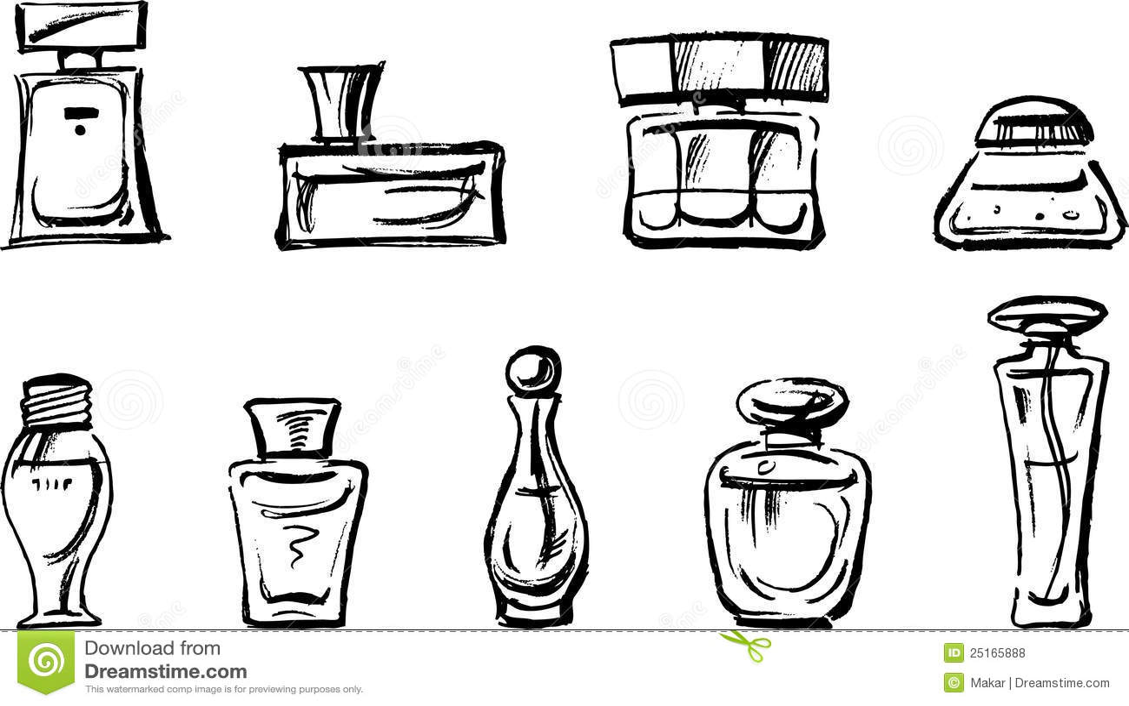 Frascos De Perfume Ilustracao Do Vetor Ilustracao De