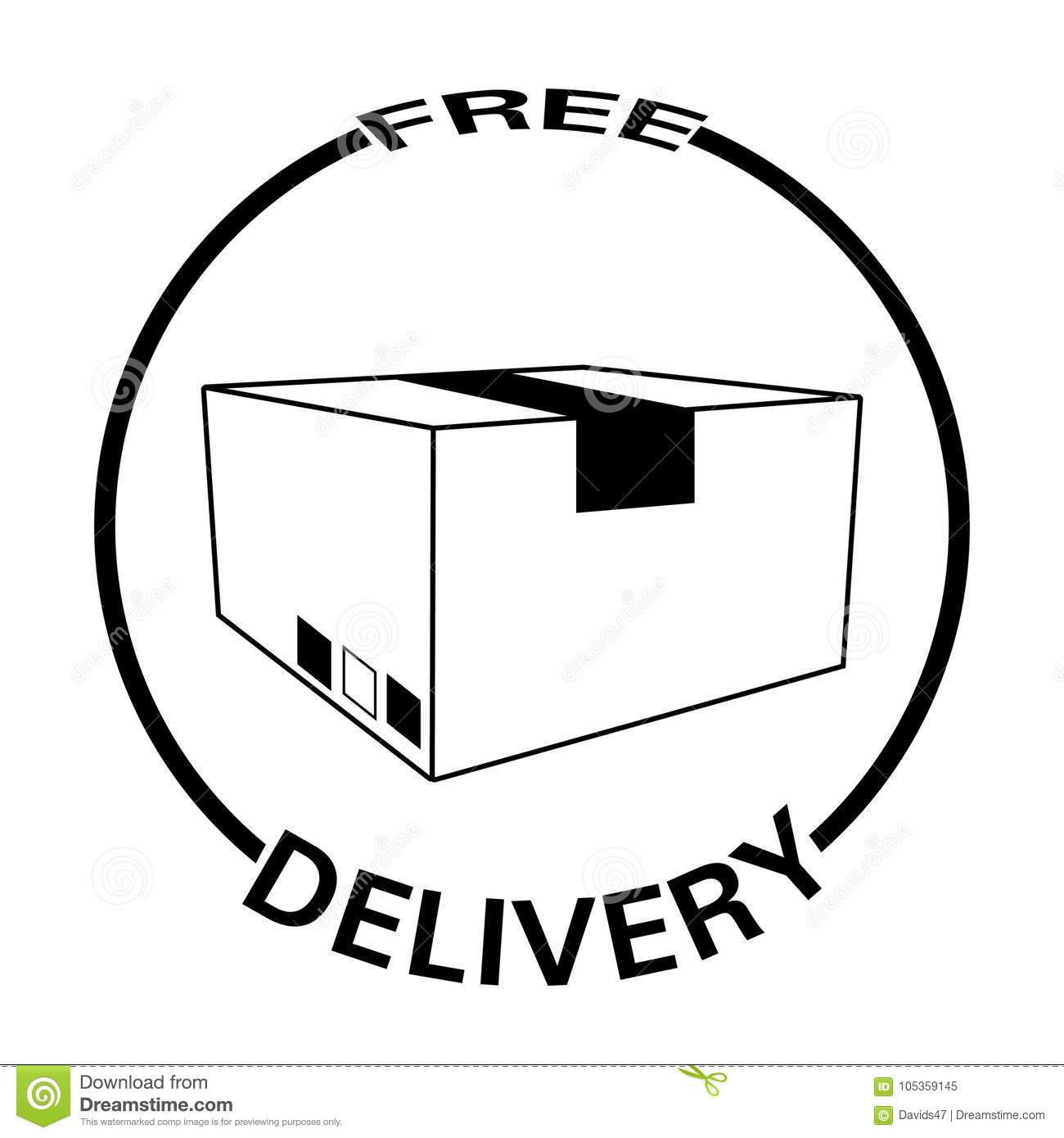 Free Delivery Object Stock Vector Illustration Of Free