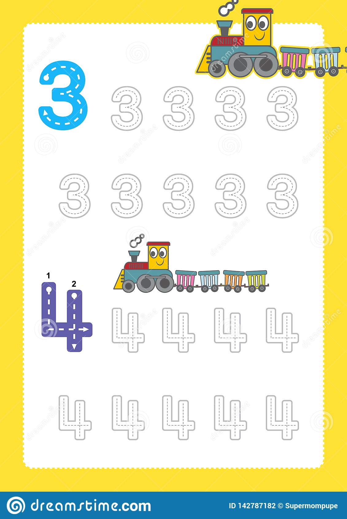 Free Handwriting Pages For Writing Numbers Learning Numbers Numbers Tracing Worksheet For