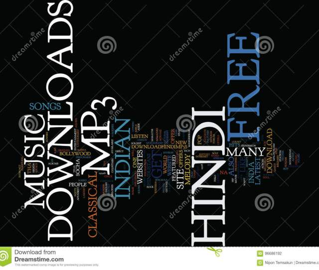 Free Hindi Mp Downloads Text Background Word Cloud Concept Stock