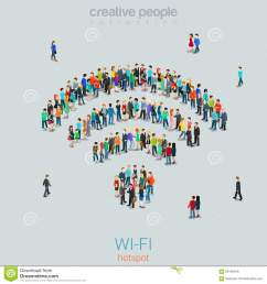 free public wi fi hotspot vector crowd people wifi sign wireless illustration 66195049 megapixl [ 1300 x 1390 Pixel ]