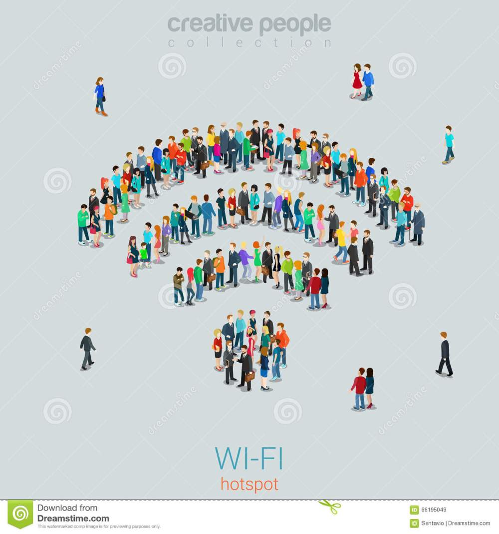 medium resolution of free public wi fi hotspot vector crowd people wifi sign wireless illustration 66195049 megapixl