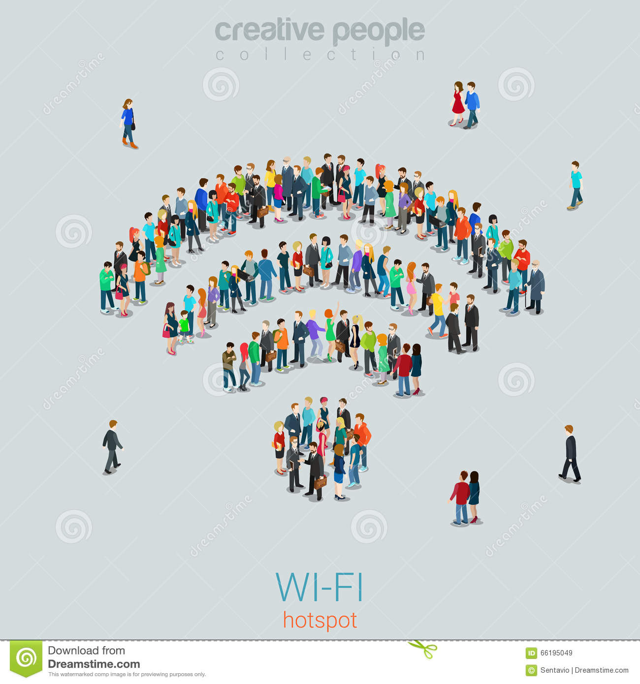 hight resolution of free public wi fi hotspot vector crowd people wifi sign wireless illustration 66195049 megapixl