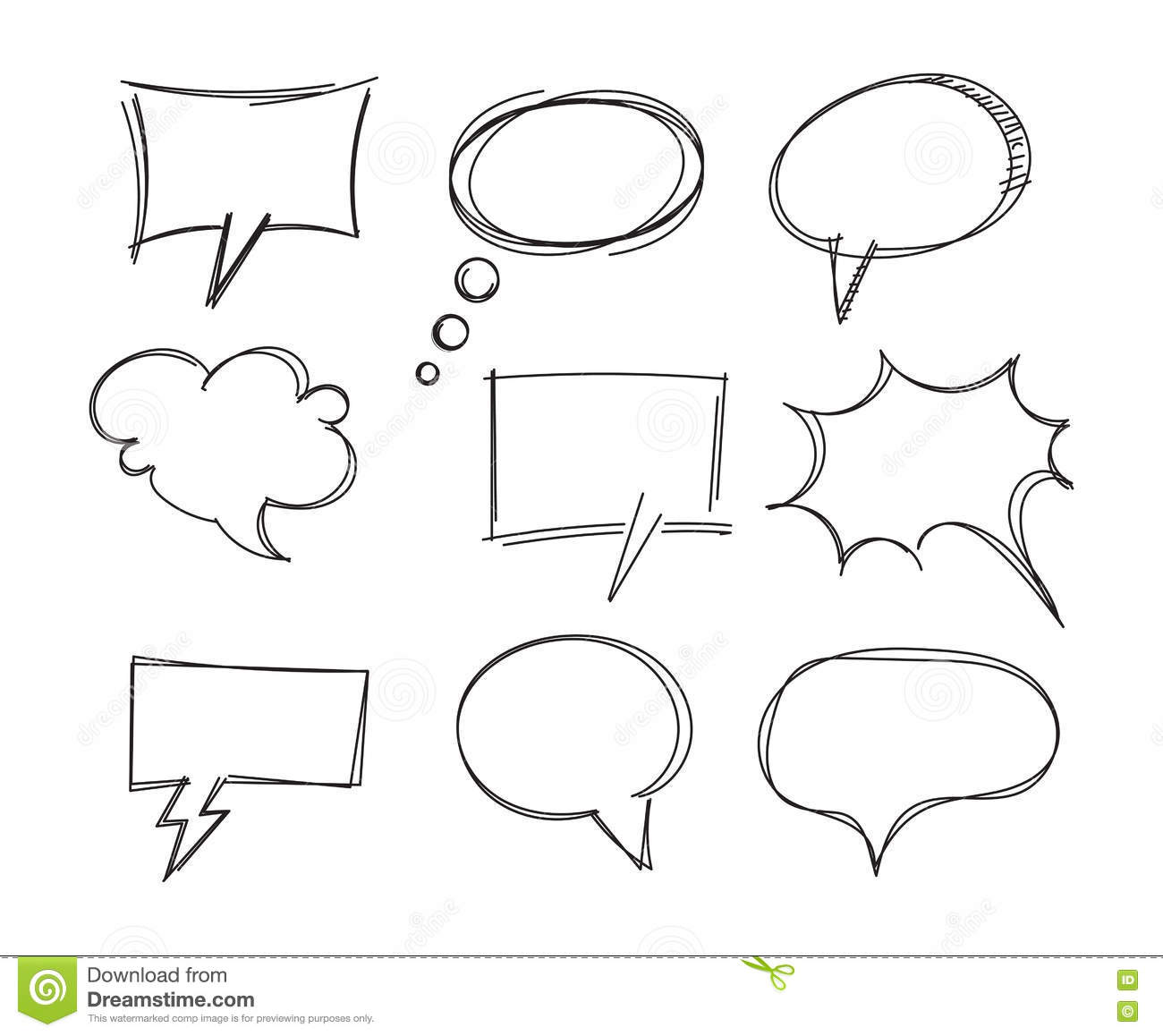 Drawing Bubble Speech Message Discussion Cartoon Vector