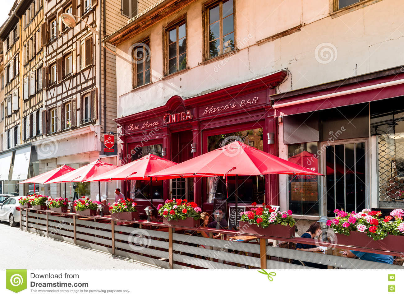 french bar chez marco in central strasbourg editorial photography image of customers lifestyle 81087247