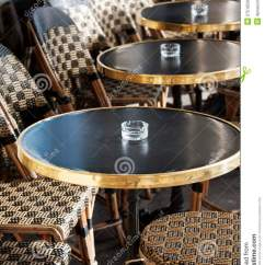 Parisian Cafe Table And Chairs Zero Gravity Lawn Chair French Outdoor Stock Photo. Image Of Bistro, Break - 27516530