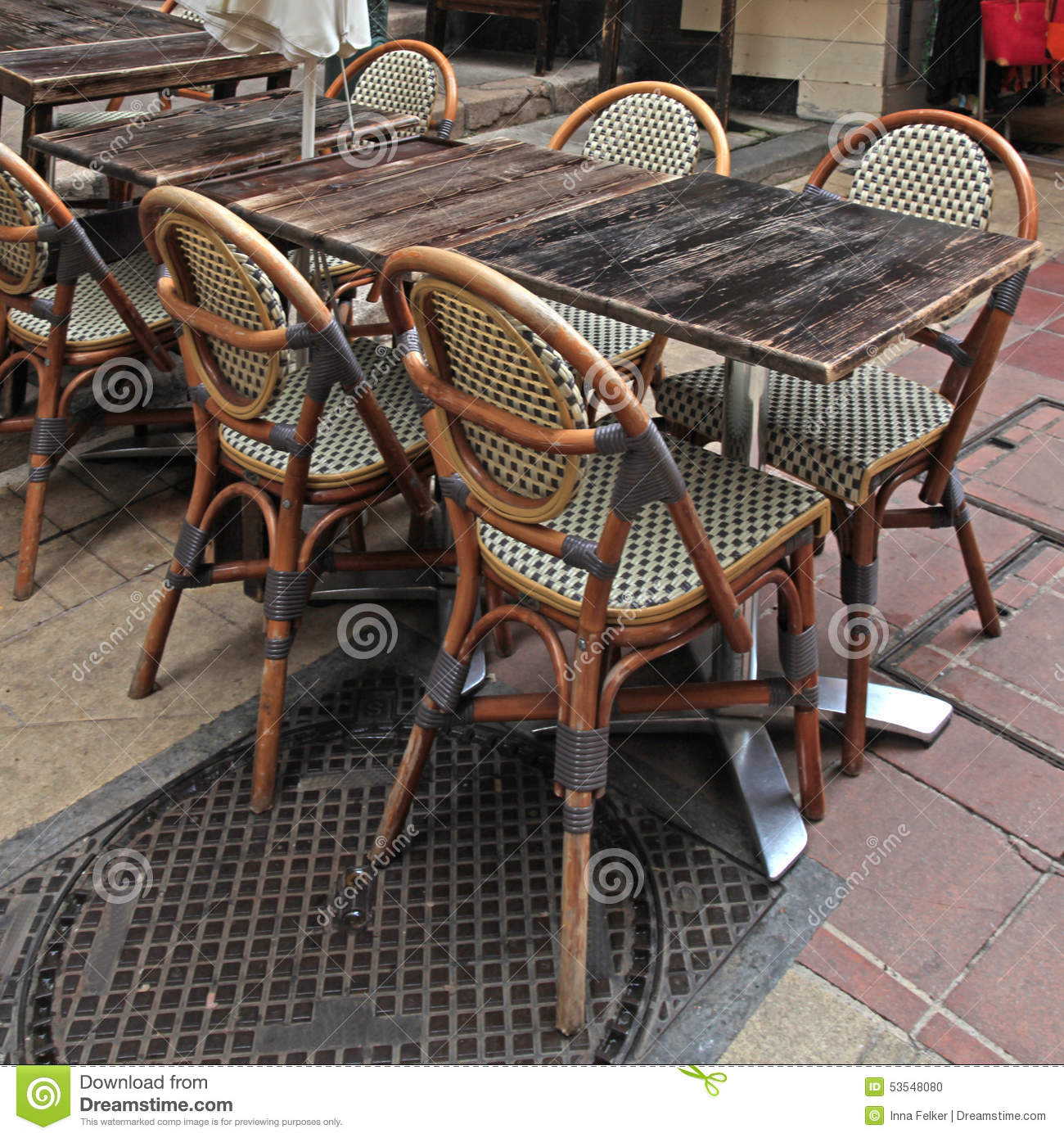 paris bistro chairs outdoor lilly pulitzer chair french cafe nice stock photo image of diner