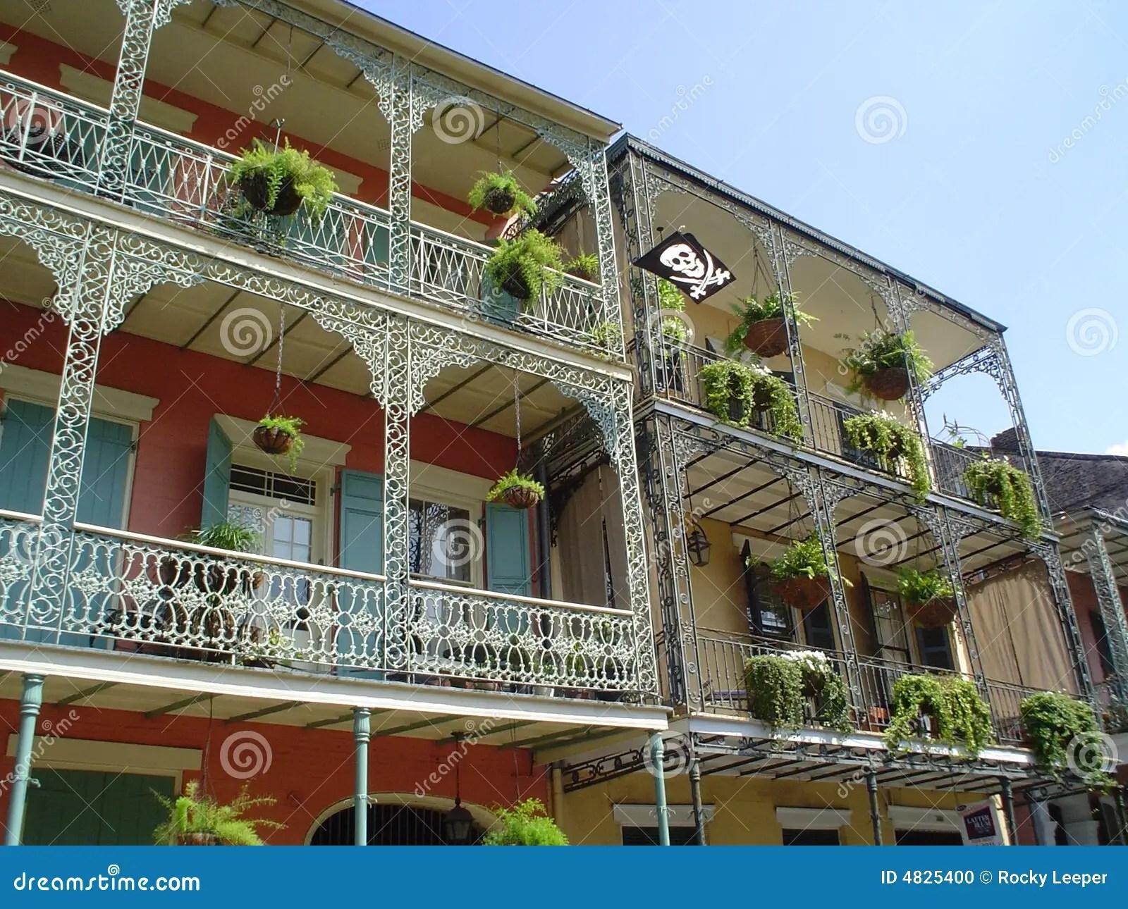 French Quarter Wrought Iron Balcony Stock Photo Image