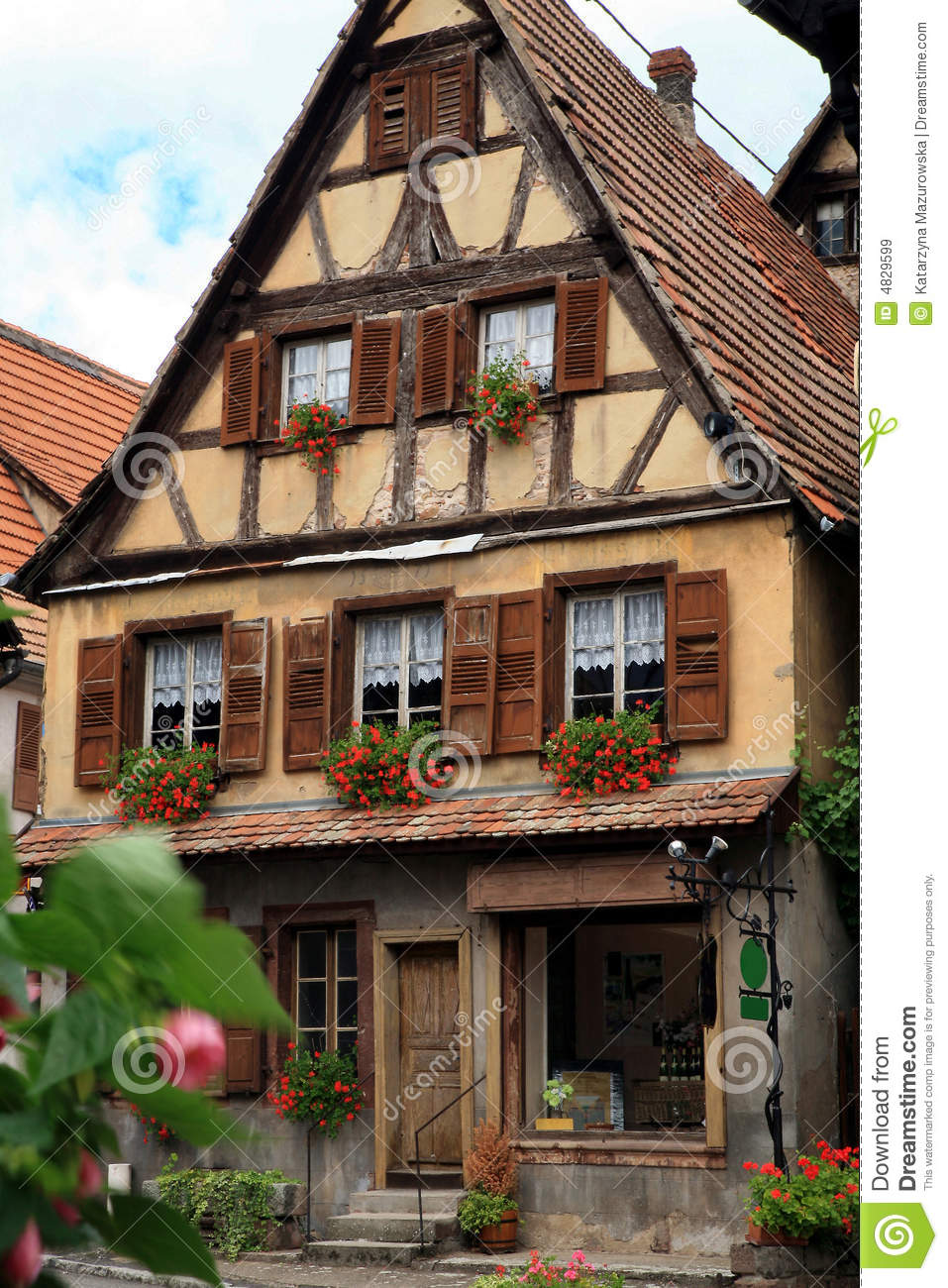 French Village Alsace France Royalty Free Stock Images