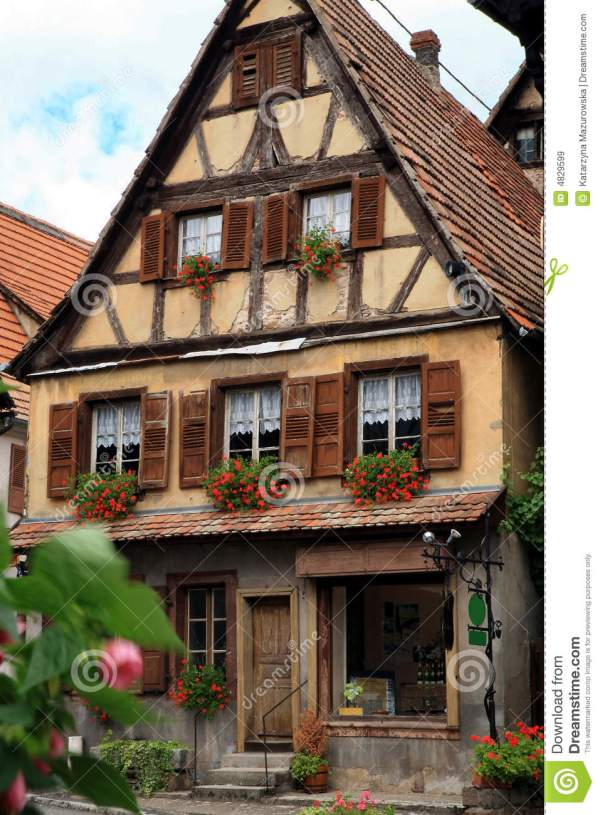 French Village Alsace France Royalty Free Stock