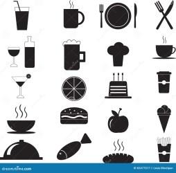 icon menu restaurant food fresh illustration vector preview
