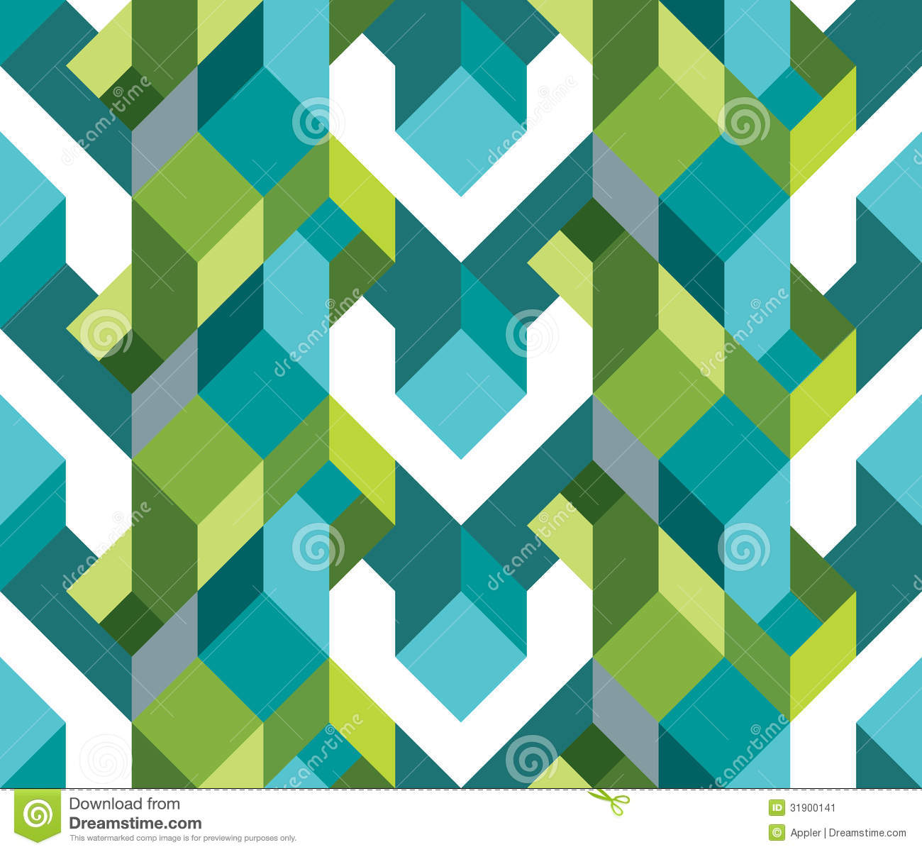 fresh geometric theme of