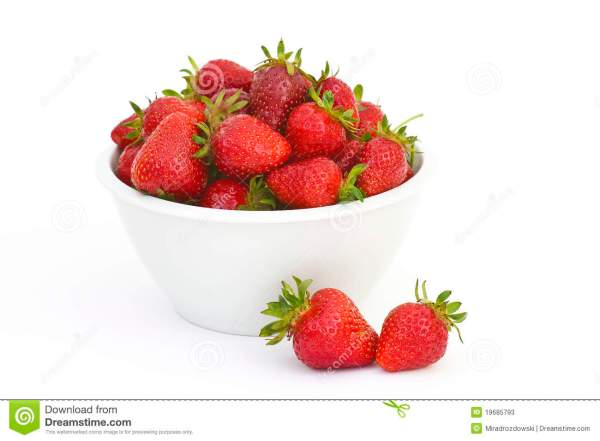 Fresh Strawberries In A Bowl Stock Image Image 19685793
