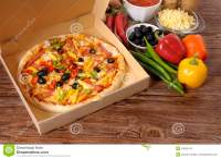 Pizza Box, Fresh Pizza, Ingredients, Making Pizza Stock ...