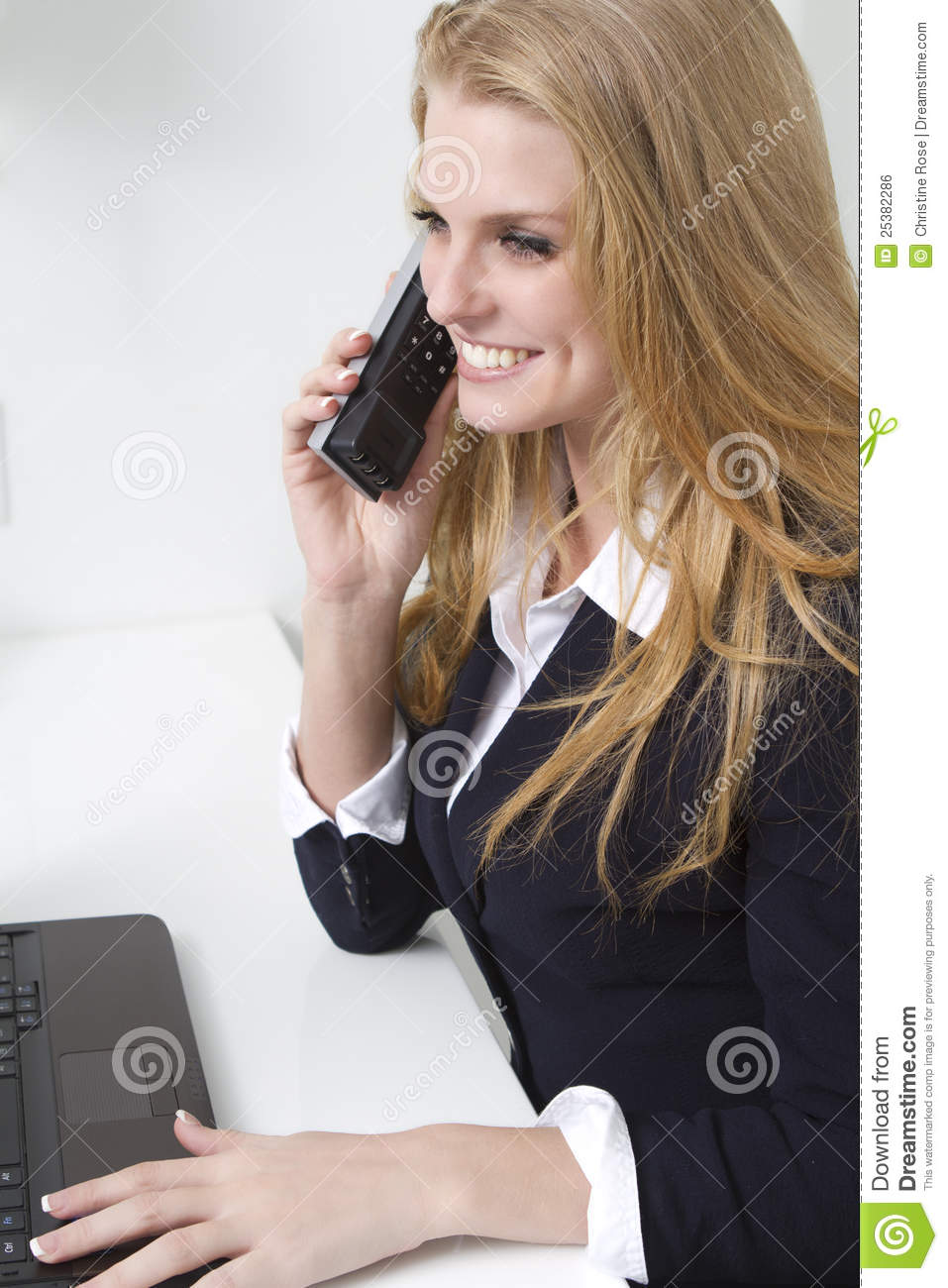 Friendly Customer Service Person On Phone Stock Photo