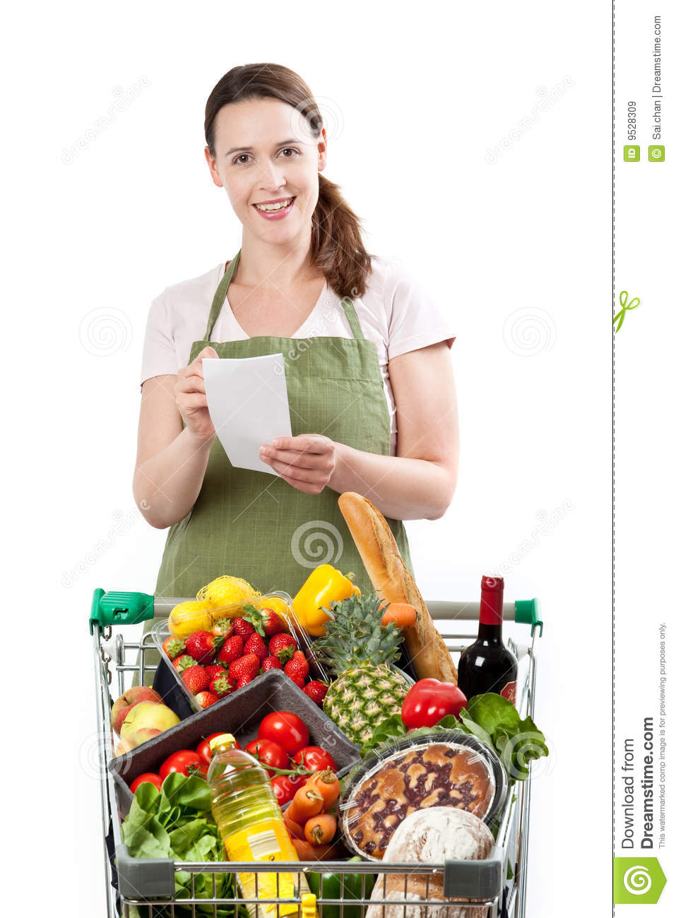 Royalty Free Stock Images Friendly grocery store assistant Image 9528309