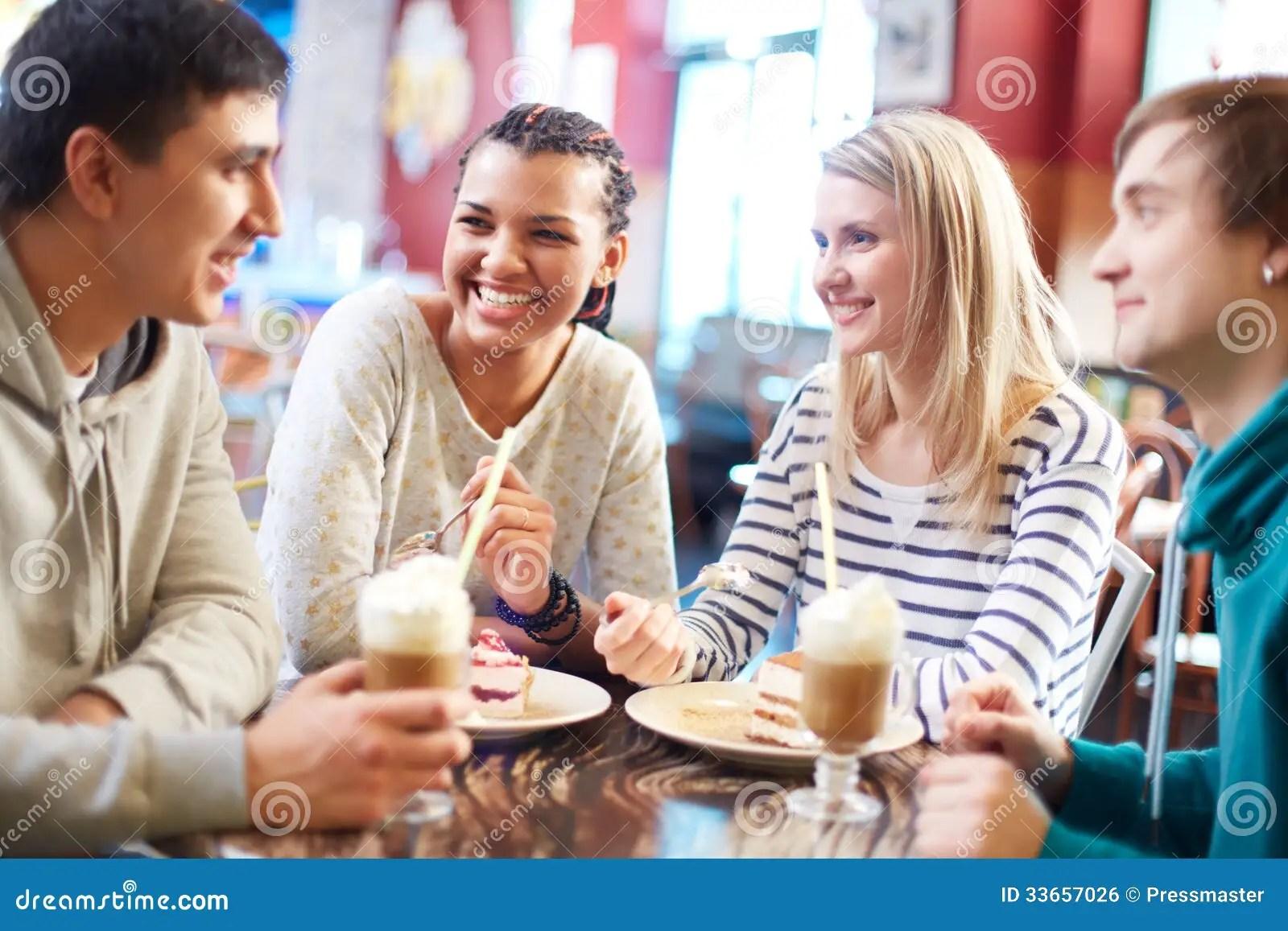 Friends in cafe stock photo. Image of human. friend. boyfriend - 33657026
