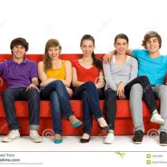 Sofa From Friends Little Bed Sitting On Couch Stock Image 14251861