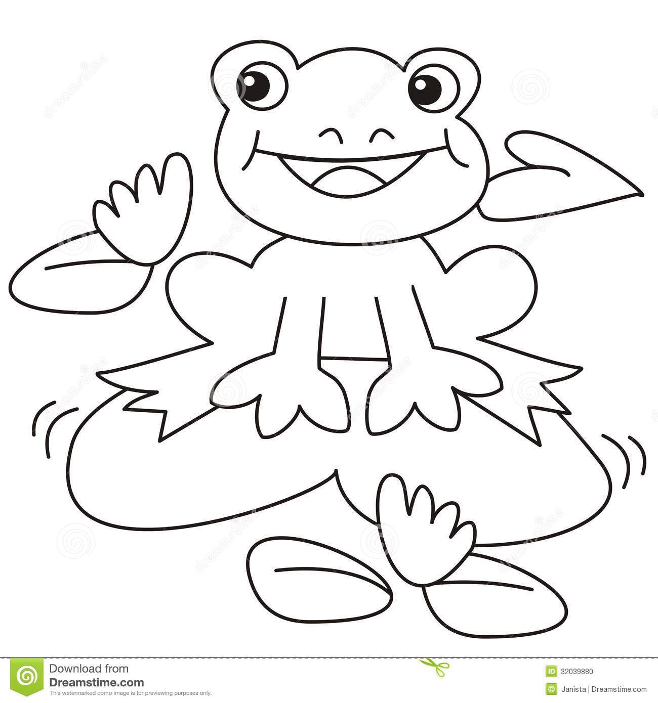 Frog Coloring Stock Photo