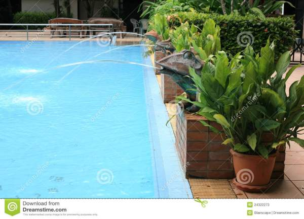 Swimming Pool Water Statues
