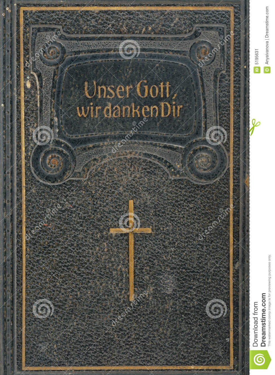 Front Cover Of Leatherbound German Songbook Stock Image  Image 5195631