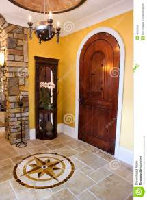Front Door And Foyer Of Luxury Home Royalty Free Stock