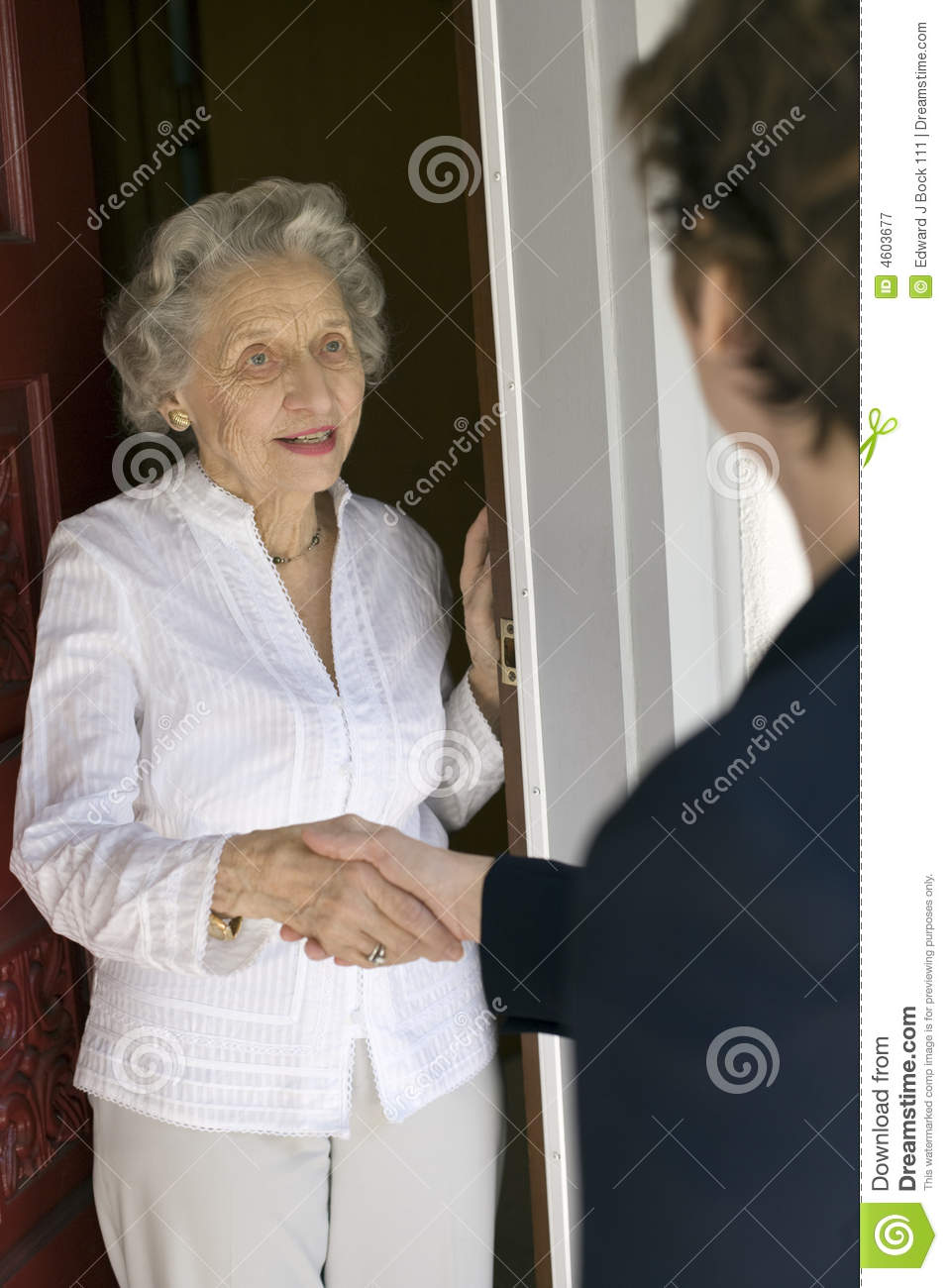 Front Door Greeting Royalty Free Stock Photography Image
