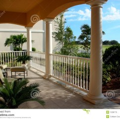 Chairs 4 Less Chair Seat Pads Ikea Front Porch Looking Out Stock Image. Image Of Peach, Valley - 1238775