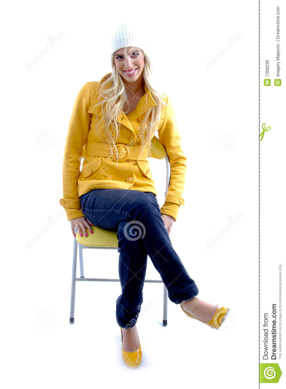 woman sitting in chair ergonomic office chairs for sale front view of on stock photo - image camera, gorgeous: 7368238