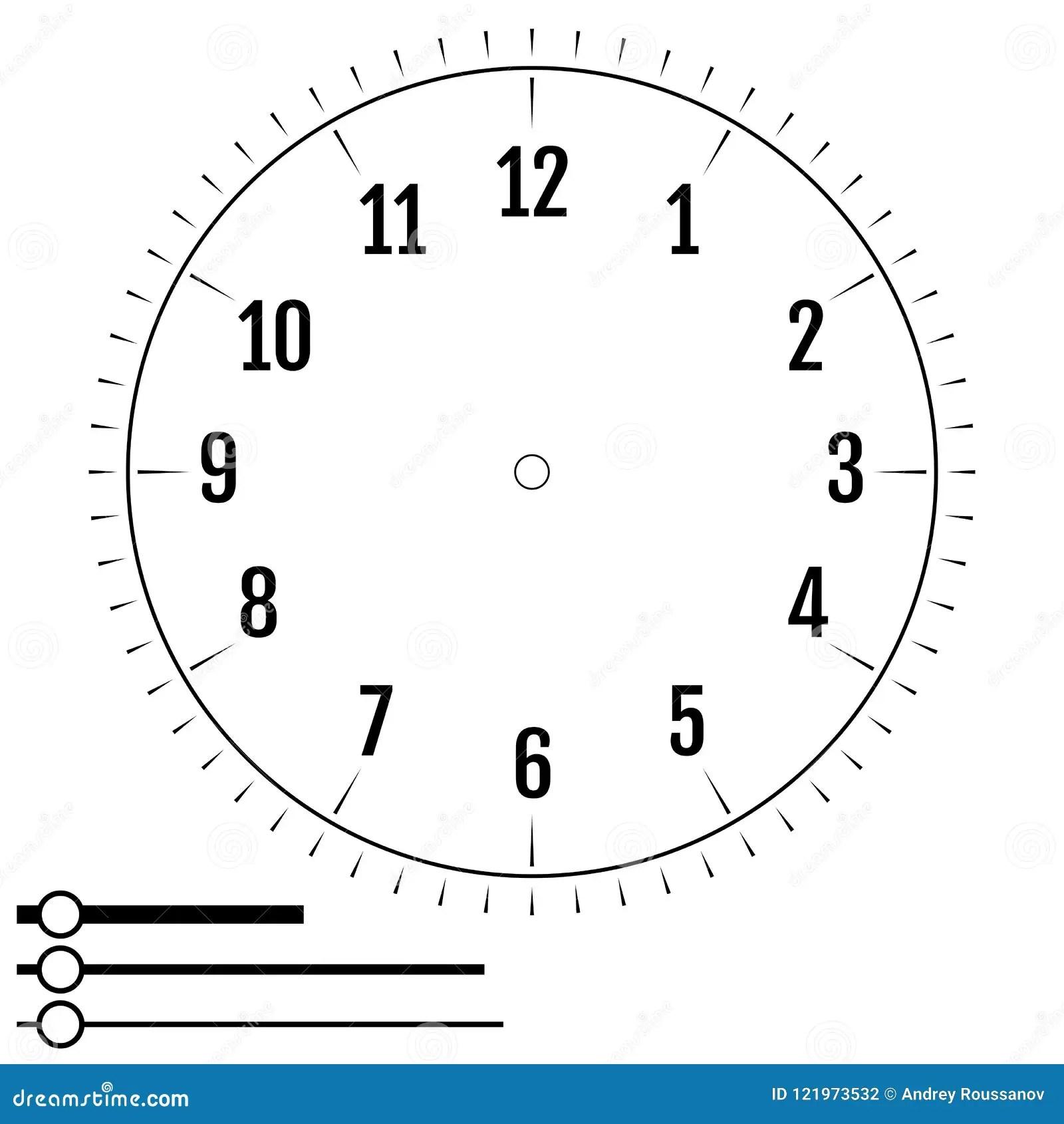 Fronte Di Orologio Rotondo Progettazione Per Gli Uomini