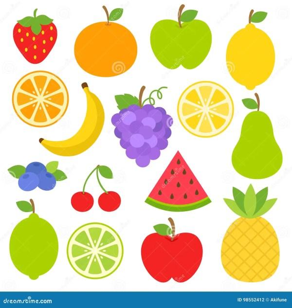fruits clipart stock vector. illustration