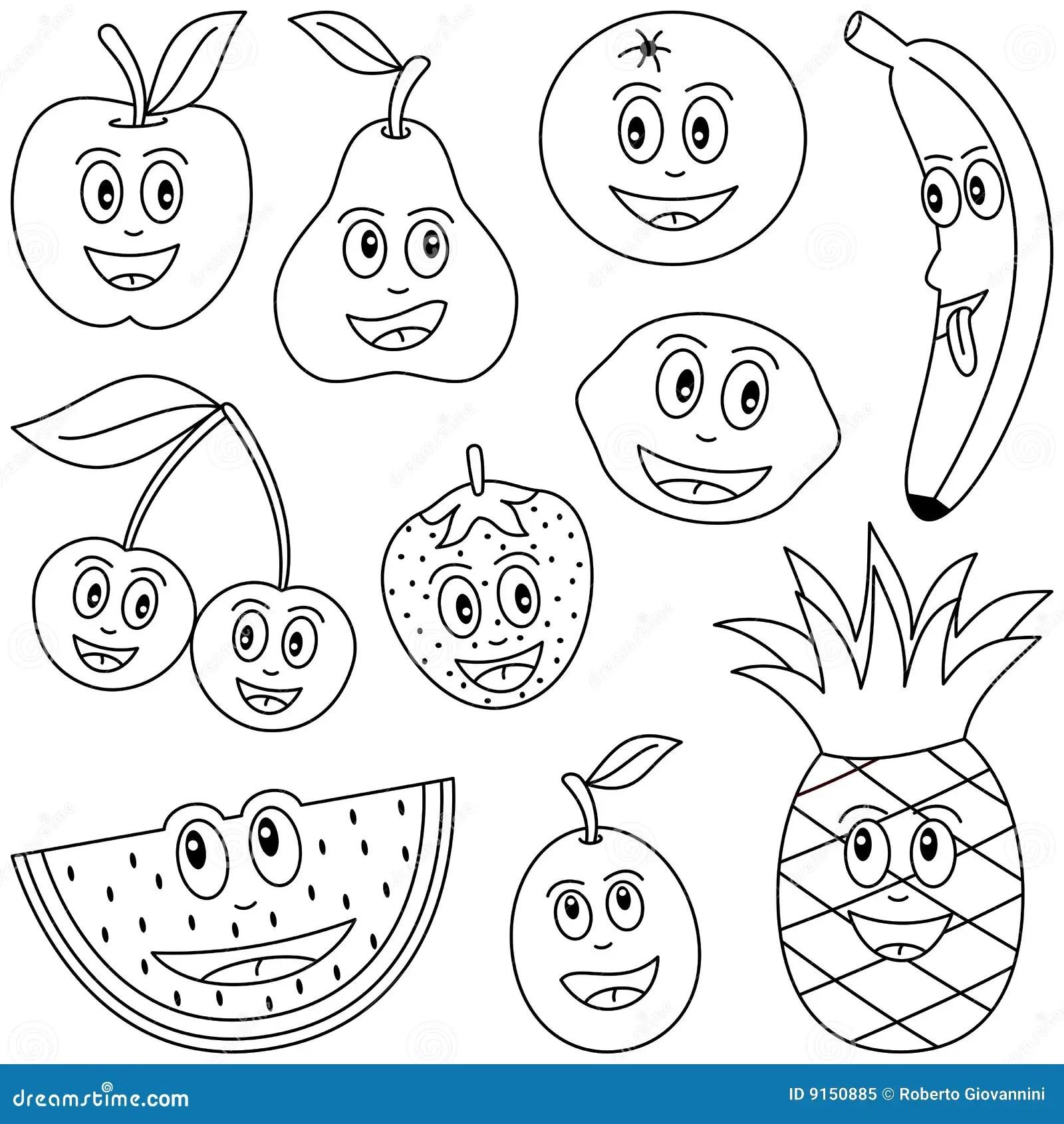 Fruta da coloração para miúdos