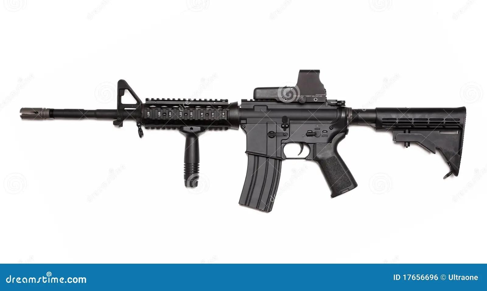 Fucile Dell Esercito Americano M4a1 Con Vista Olografica