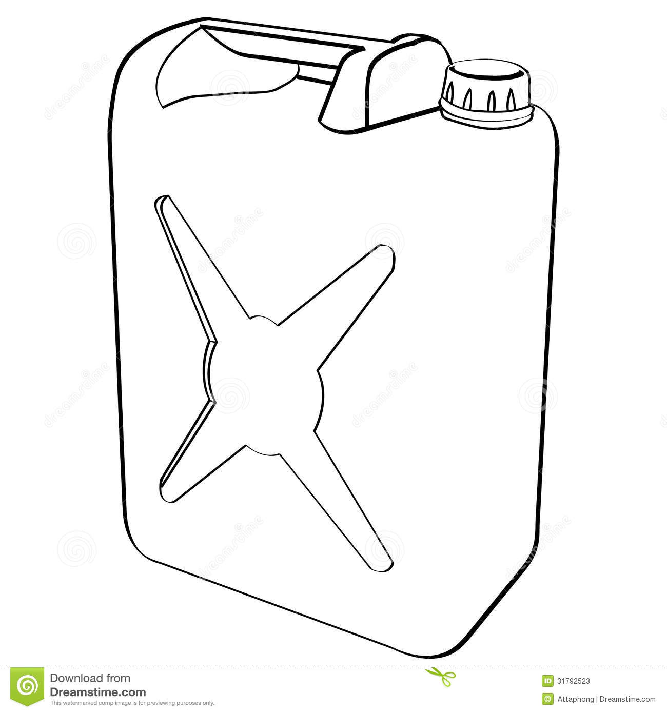 Fuel can vector stock vector. Illustration of economy