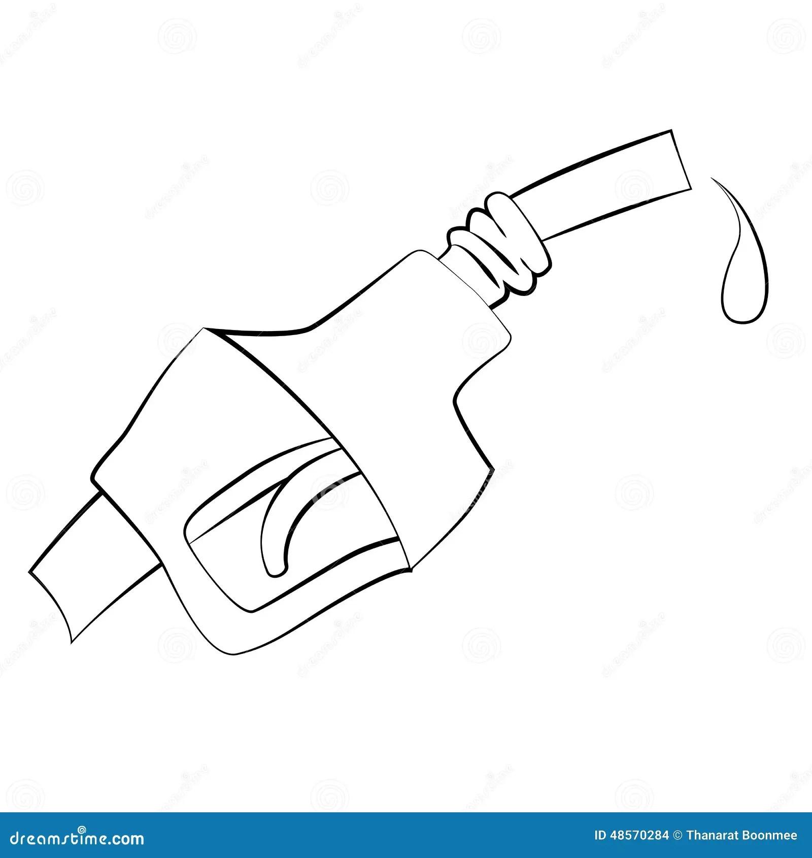 Fuel Dispenser Nozzle Stock Vector Illustration Of Petrol