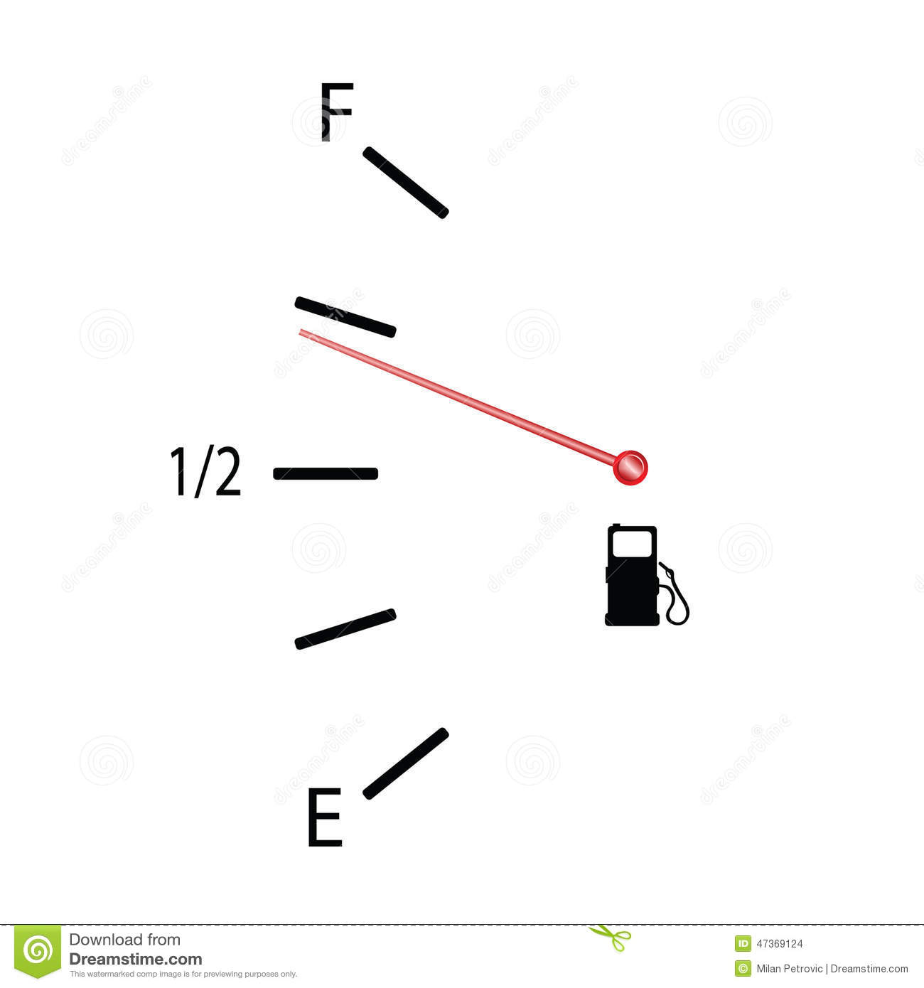 Fuel Gauge Vector Illustration With Symbol Stock Vector